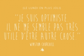 Je suis optimiste