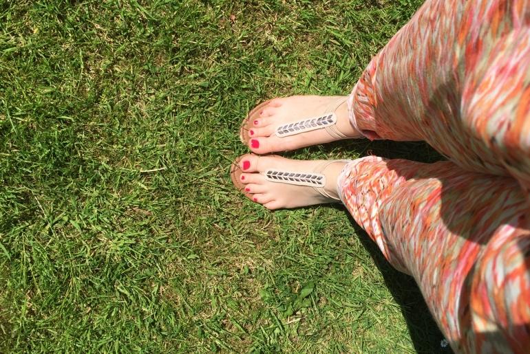sortir les sandales au printemps