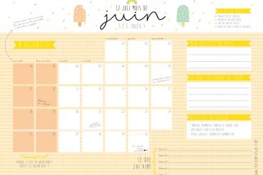calendrier juin-petit