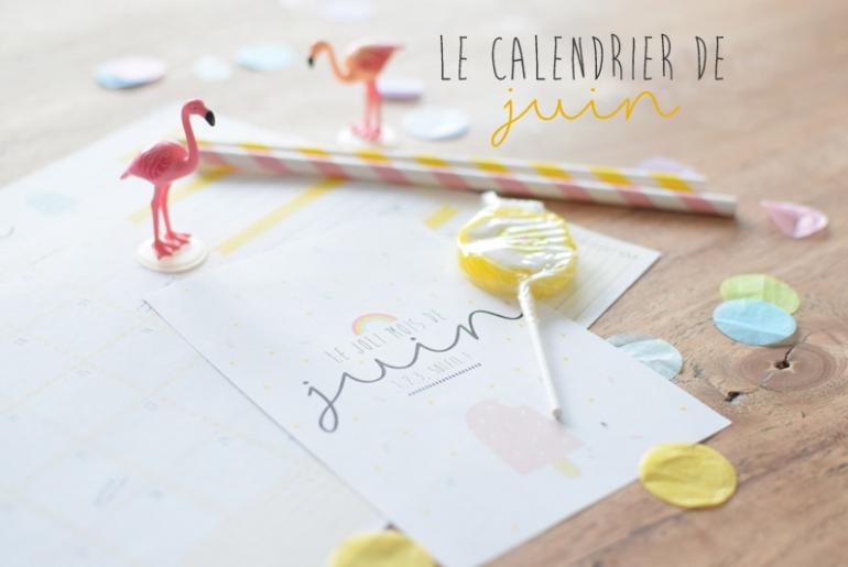 diy calendrier juin