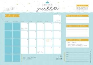 calendrier juillet-petit