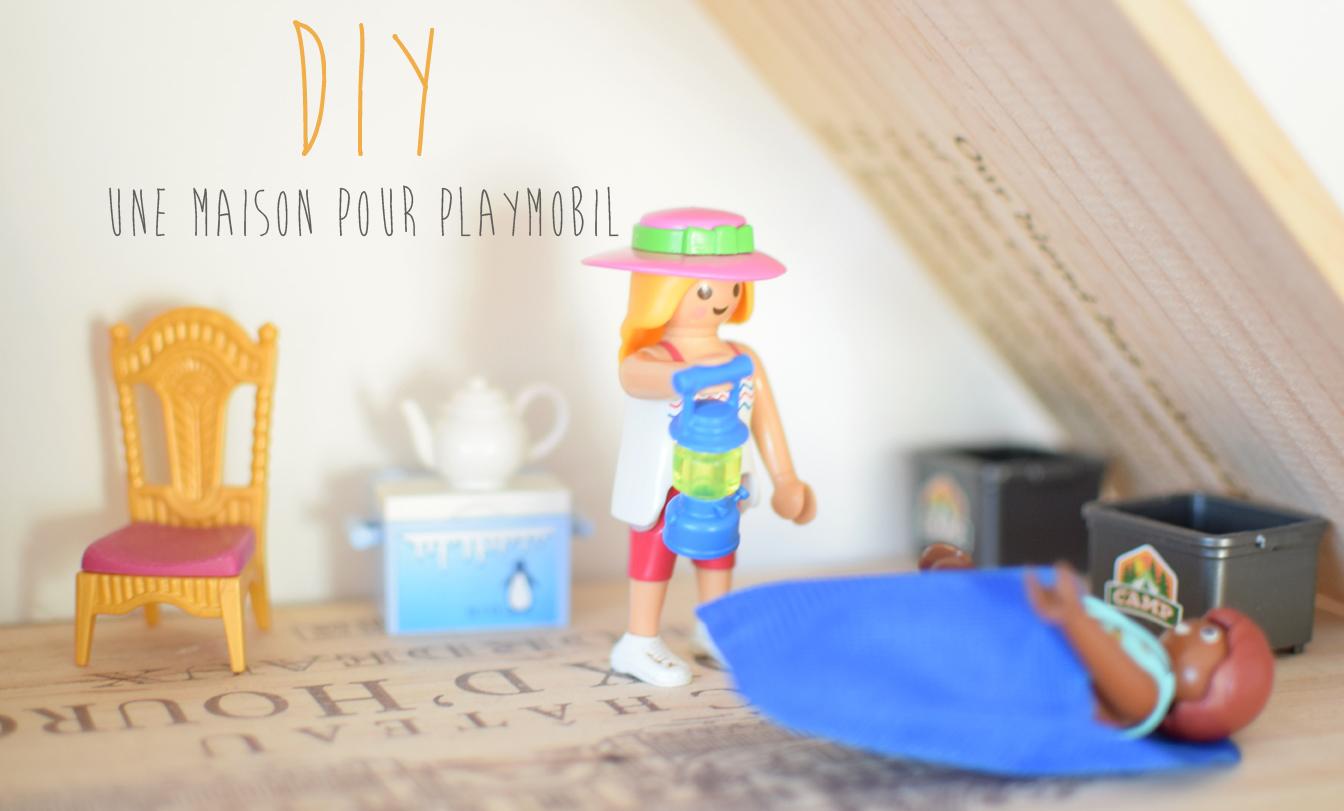 Diy une maison pour playmobil la vie en plus joli - Maison en bois playmobil ...