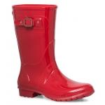 Mi-bottes plastiques rouge