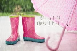 Idées d'activités pour jours de pluie : livres, cahiers et carnets