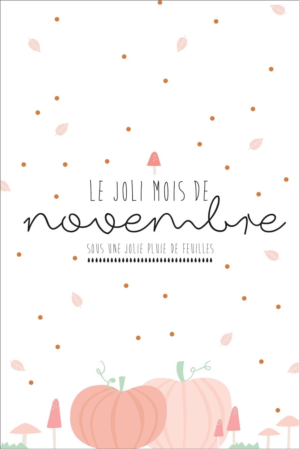 Calendrier Du Mois De Novembre à Imprimer La Vie En Plus Joli