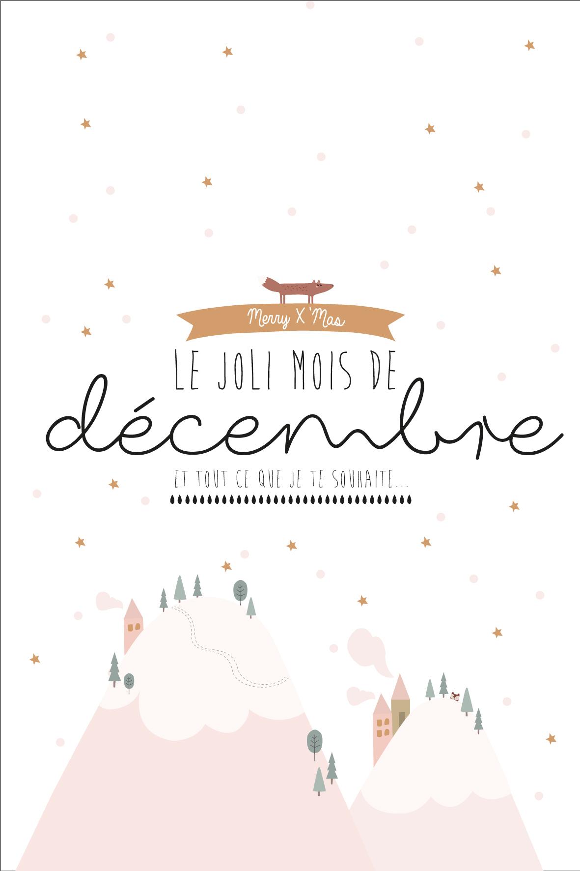Calendrier Du Mois De Decembre A Imprimer La Vie En Plus Joli