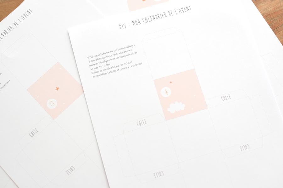 Diy Calendrier De L Avent à Imprimer La Vie En Plus Joli