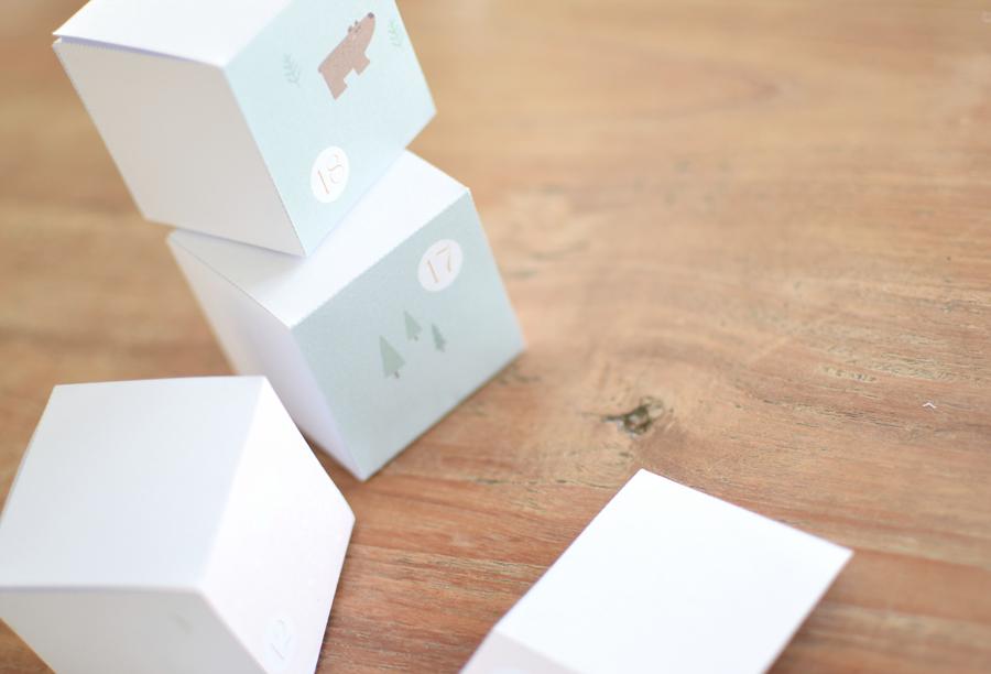 Boite Calendrier De Lavent.Diy Calendrier De L Avent A Imprimer La Vie En Plus Joli