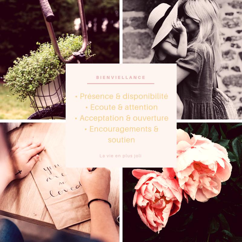 Présence & disponibilité Ecoute & attention Acceptation & ouverture Encouragements & soutien